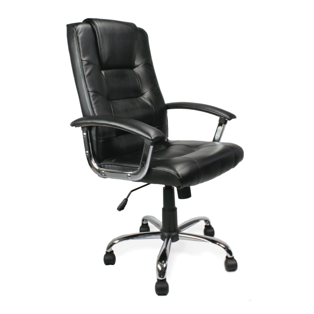Westminster, Traditional Leather Faced Chair. Black, Blue, Cream, Red, Silver or Brown Leather